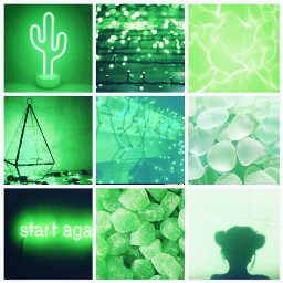 green aesthetic grid aestheticgrid