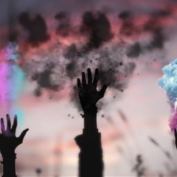 explosionofcolor handsremix colors freetoedit irchandsilhouette handsilhouette