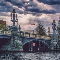 moody gloomy bridge bridges amsterdam freetoedit