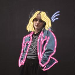 neon neonbrush art artsy girl