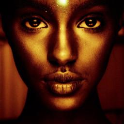 freetoedit golden beauty woman womanportrait