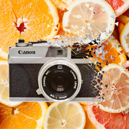 freetoedit camara limon naranja birthday