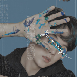 bts yoongi blue kpop kpopedit freetoedit