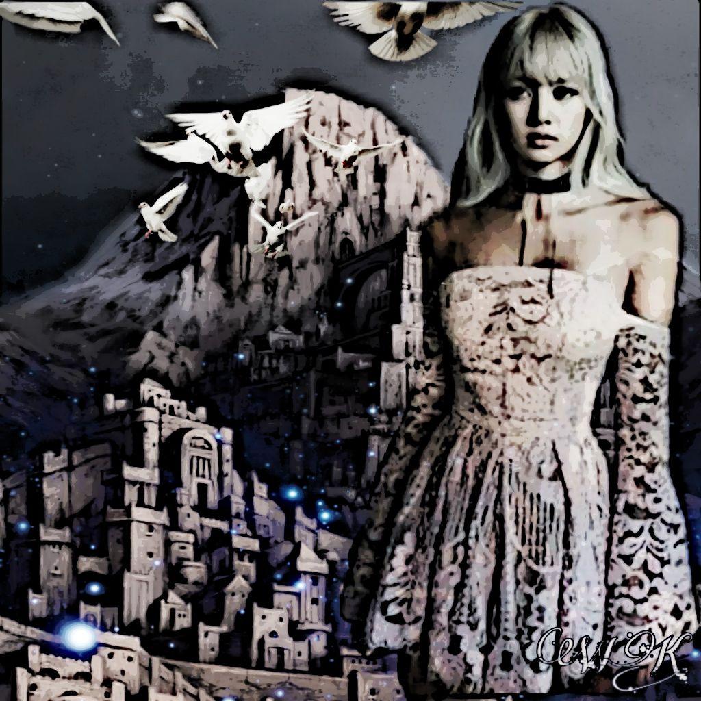 #freetoedit #fantasyart #fantasy #doubleexposure #woman #goddess #mountains #birds #hiddencity #lostcity #secretplace #faraway #beautyofnature #lookingatyou #myedit #imagination #madewithpicsart #artisticeffect #sketchereffect Thank you for the fantastic background and stickers @wendyk667