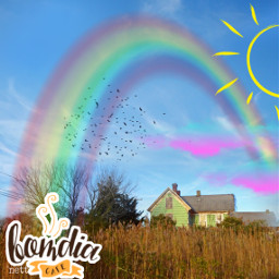 freetoedit goodmorning sunshine rainbow phototumblr ecbomdia bomdia morning