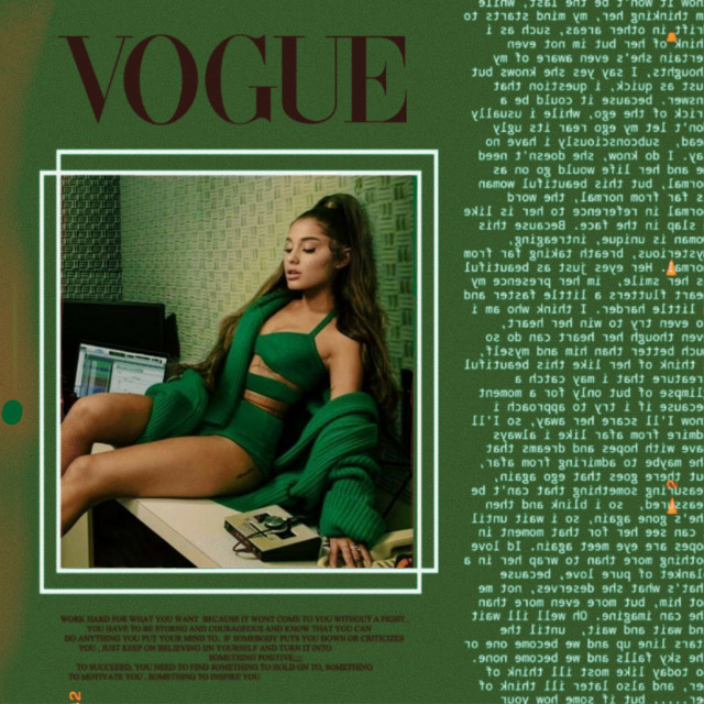 [ I edited this again because I didn't like how it looked ]  Ariana Grande 💚💚💚  #arianagrande #arianators #arianagrandeedit #ariana #edit #aesthetic #aestheticedit #vogue #like #fotoedit  #green