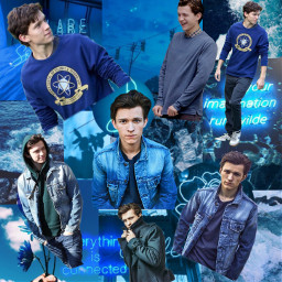 freetoedit tom holland tomholland blue