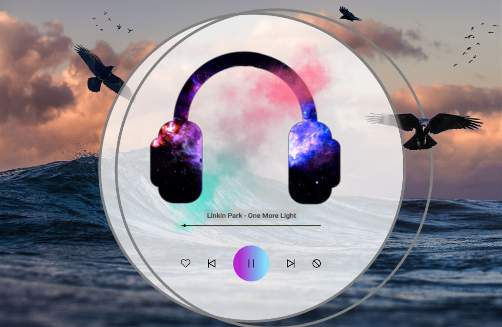 #kopfhörer #selfmade #raven #sea #music #onemorelight #linkinpark #water #circle #challenge #hello #lol #wtf