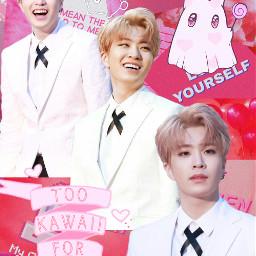 youngjae got7 pink aesthetic freetoedit