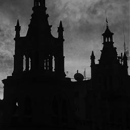 blackandwhite silhouette sky cathedral faith