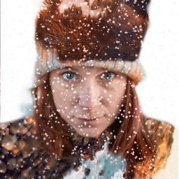 freetoedit doubleexposure snow mountain hat