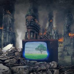 freetoedit irctelevisionday televisiondayb apocolypse climatechange