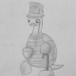 drawing turtle tortise fancy tea