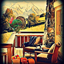 freetoedit turkey givethanks text porch fcthanksgiving thanksgiving