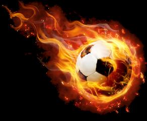 fussball ball fire fireball freetoedit