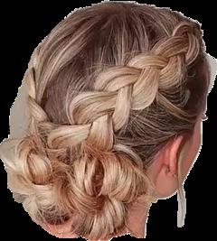 hair braid bun messybun blonde freetoedit