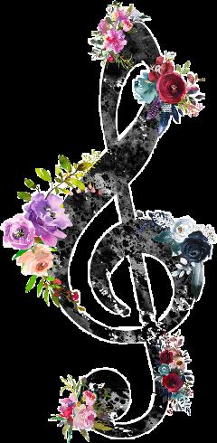 watercolor watercolorpainting flowers music art scmusicalnote freetoedit