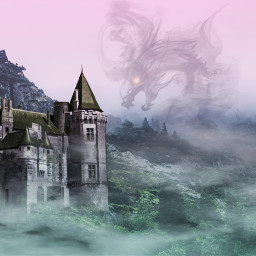 freetoedit fantasy mountain castle dragon
