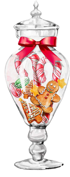 freetoedit watercolor christmas decorations cookies