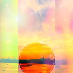 freetoedit landscape city skyline sunset