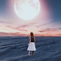 surreal moon moonedit sky freetoedit