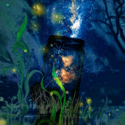freetoedit fireflies galaxy forest jungle ircgalaxyjar