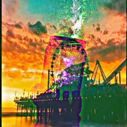 freetoedit ferriswheel boardwalk bright colorful ircgalaxyjar galaxyjar