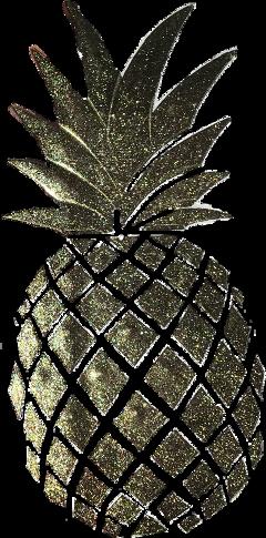 pineapple fruit sticker gold glitter scrapbook freetoedit