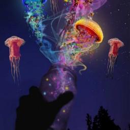 freetoedit masonjar masonjars jellyfish jellyfishes