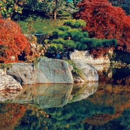 colorful vividcolor hdr pond park