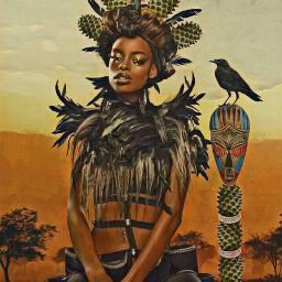 freetoedit cactibackground woman princess crown