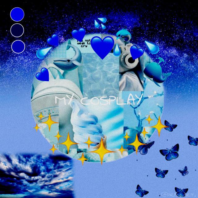 #freetoedit  #pastel  #bluebackground  #blue #cosplay