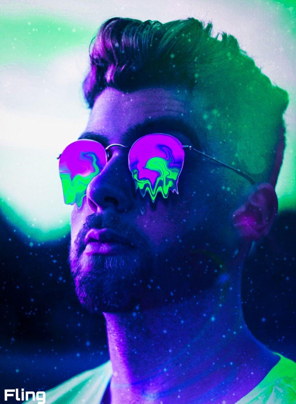 #man #neon #grime  #freetoedit
