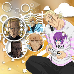 king opm onepunchman yellow white freetoedit