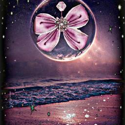 freetoedit remixed bow diamonds purple