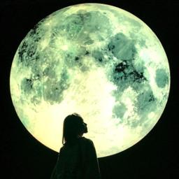 pchalffaced halffaced noedit myself moon freetoedit