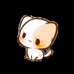 kitten cat kawaii chibi cute freetoedit