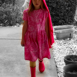 freetoedit colorsplash pink rainboots hoddie