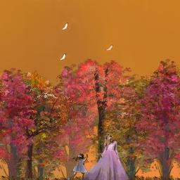 freetoedit autumn woods myedit madewithpicsart