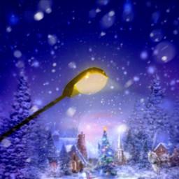 freetoedit snowy christmas town irclamplight