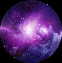 galaxy space stars purple light freetoedit