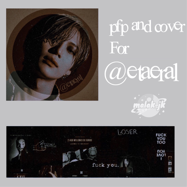 Icon and cover for @etaeral 💛 Hope you like it💛 Tell me when you want me to send it for you💛 #freetoedit