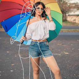 tumblrgirl colorfull unbrella sunny