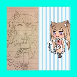 drawing art interesting people gacha freetoedit