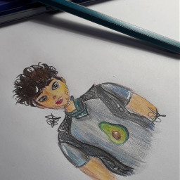 joelpimentel joelcnco cnco cncowners edit myedit dibujo draw avocado aguacate palta colores