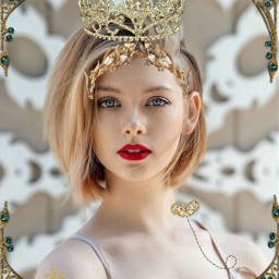 golden interesting cute queen freetoedit