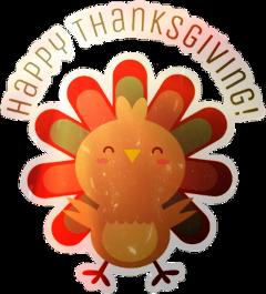 thanksgiving adorable cute turkey sticker freetoedit scthanksgiving