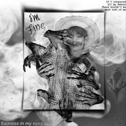 freetoedit bts dark demon bw scary