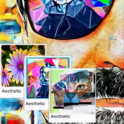 freetoedit collage paint cubismo arte ecaesthetic