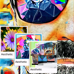 freetoedit collage paint cubismo arte ecaesthetic